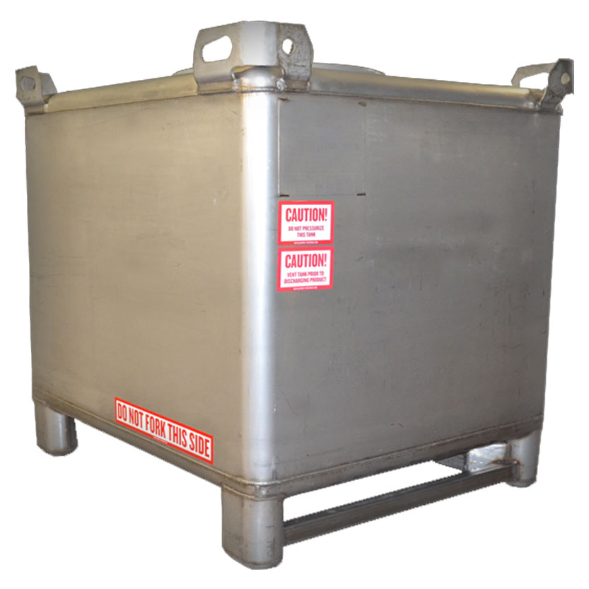 180 Gallon Stainless Steel IBC Tank Image